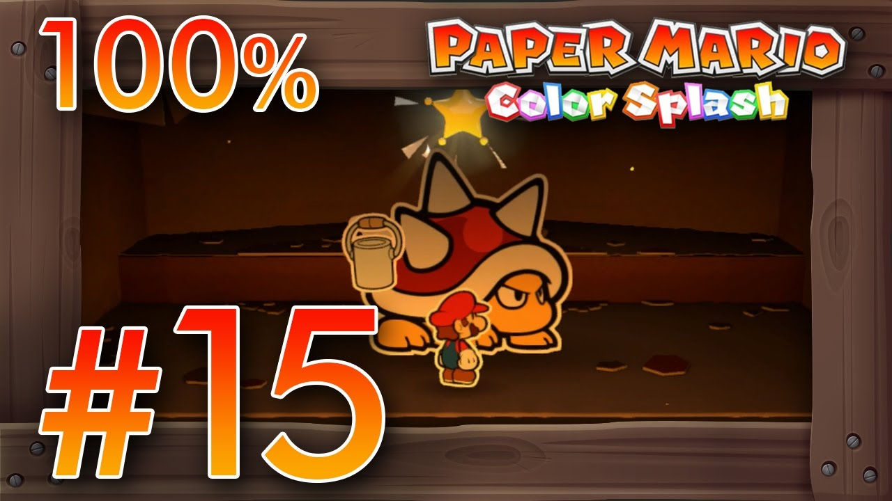 Paper Mario Color Splash 100% Walkthrough Part 15 | Kiwano Temple ...