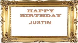 Justin   Birthday Postcards & Postales - Happy Birthday