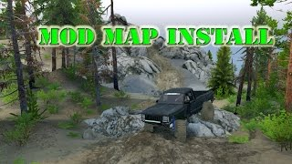Spin Tires / mod map install tutorial