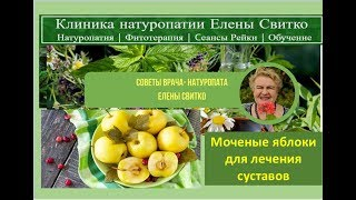 Моченые яблоки для лечения суставов