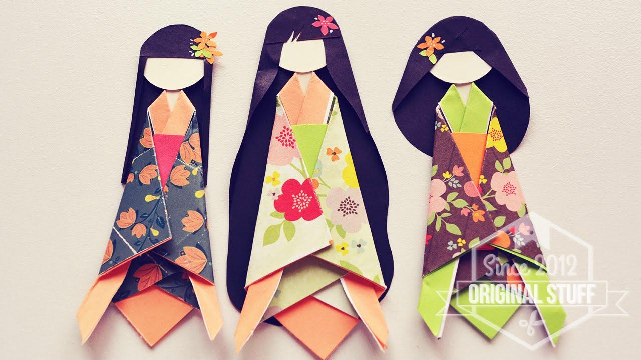 Como Hacer Muneca De Papel Japonesa Japanese Paper Doll Diy