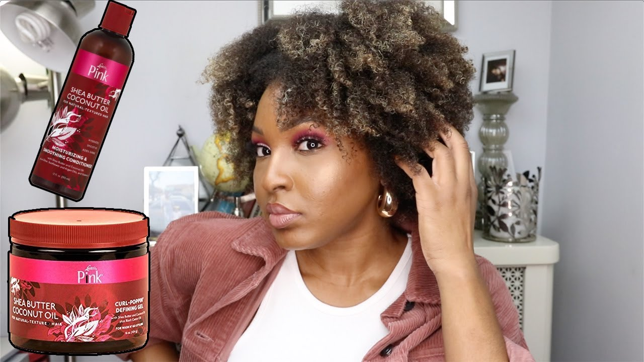 WASH & GO ON TYPE 4 NATURAL HAIR USING LUSTERS PINK SHEA BUTTER COCONUT OIL COLLECTION | KENSTHETIC