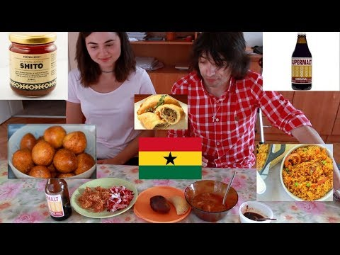 BULGARIANS TRY GHANAIAN FOOD