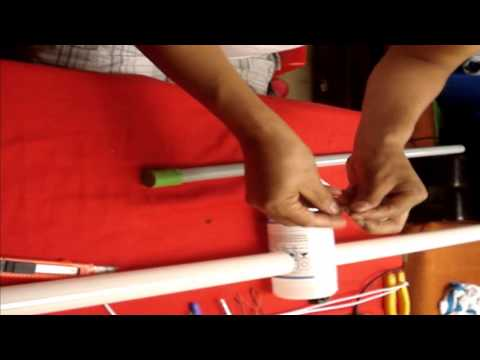 Como construir Antena de TV con Lampara Fluorescente  reciclada