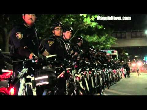 Overwhelming Police State Keeps The Peace at DNC Convention in Charlotte N C