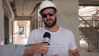 Obra de construção da Escola Profissionalizante em Alto Santo recebe visita da prefeita Iris Gadelha