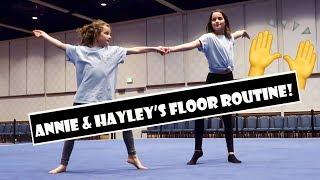 Annie & Hayley's Floor Routine 🙌 (WK 368.5)   Bratayley