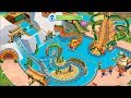 Talking Tom Pool Building Water Kingdom & Dragon Mountain At Once Part 1 |Talking Tom game for Kids