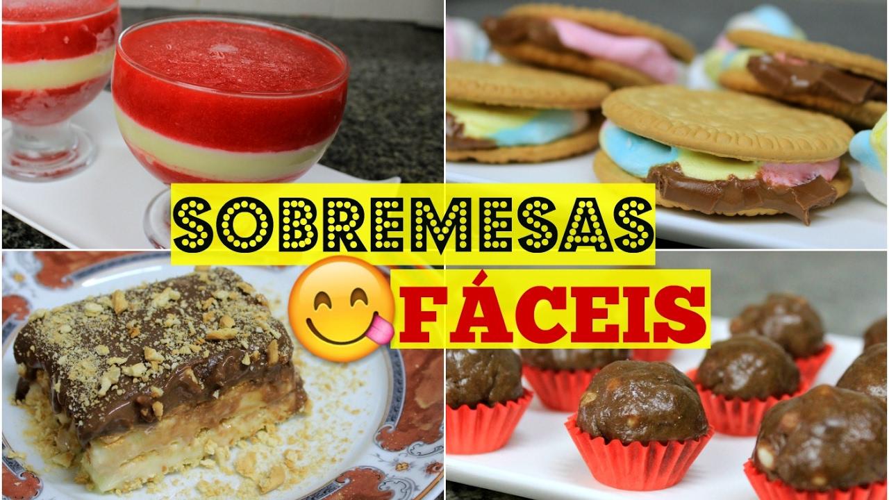 Download 4 SOBREMESAS FÁCEIS QUE  VOCÊ PRECISA TENTAR! - Sisters Lellis