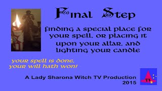 Lady Sharona Spell Candle Spells Class - Finale