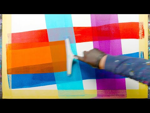 Abstract Painting Demo - Stripe With Masking Tape | Monogrammus ...