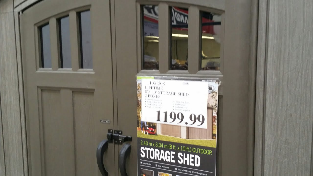 Lifetime Storage Shed From Costco