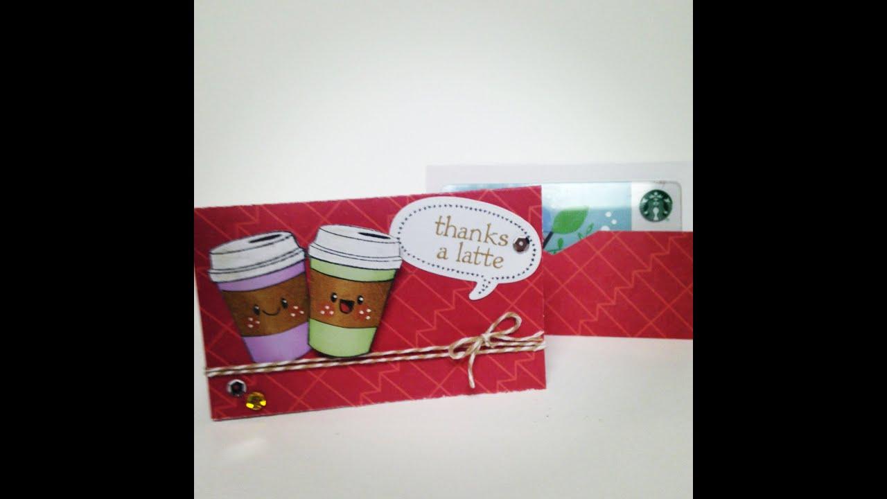 Handmade Gift Card Holder Coffee Theme Video Tutorial Youtube