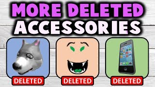 MORE! Cancelled & Deleted Hats/Faces/Gear! (ROBLOX)