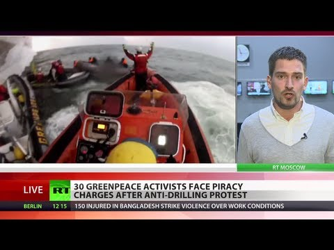 Pirates in Arctic? Greenpeace activists face charges after anti-drilling protest