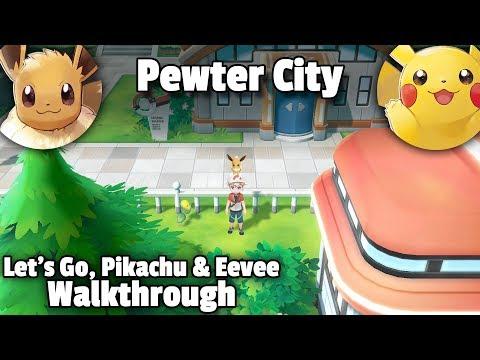 Pewter City • Pokémon Let's Go, Eevee! (+ Pikachu!) Walkthrough