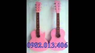 bán đàn guitar nhỏ màu hồng cho các bé gái ,ban dan guitar nho mau hong