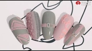 【Watch Nail Recommended-1302nd phase】Matte Geometric Nails with Sugar Powder【推荐 第1302期】简约几何 磨砂糖衣