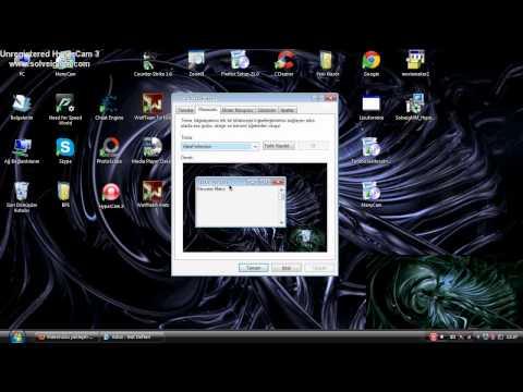 Windows XP Masaüstü Resmi Ve Fare İşaretçisini Değiştirme (HD İzleyin)