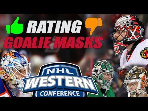 Rating NHL Goalie Helmets(West) - Part 1