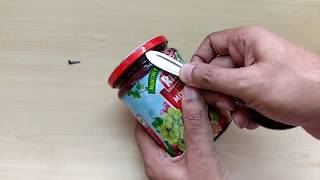 How to open air tight Jam bottle in 5 seconds with a house spoon.
