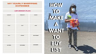 """How to make a """"Want to Buy List"""" - Purchase your grails in the best way !"""