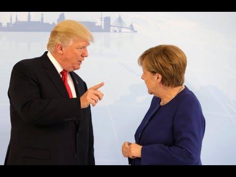 President Donald Trump SCHOOLS Angela Merkel On Trade As Talks HEATS Up At NATO