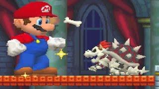 New Super Mario Bros. DS - All Castle Bosses
