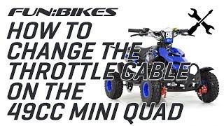 Mini Moto Twist Throttle Fit Any Dirt Bike Quad Racing Bike B1 Replica