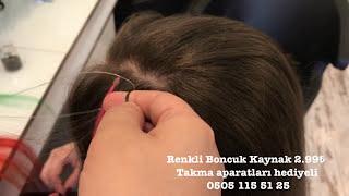 Rengi Akmayan Gerçek Boncuk Kaynak Saç -Evde takılışı