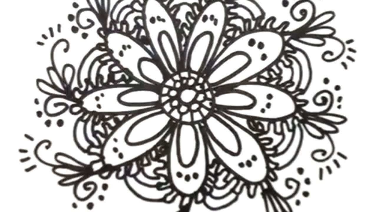 How to draw cool designs draw flower designs mat youtube mightylinksfo