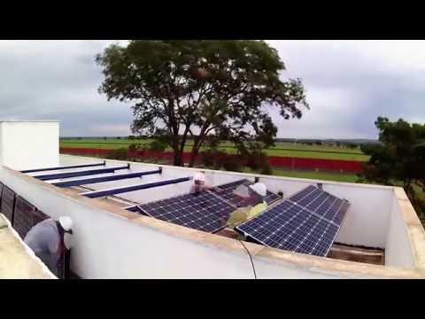 Видео Engenharia elétrica Geração fotovoltaica