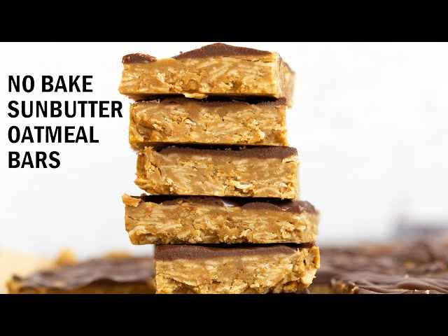 NO BAKE SUNBUTTER GRANOLA BARS | Vegan Richa Recipes