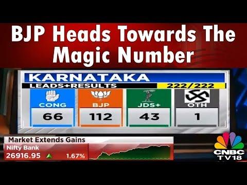 bjp-surges-in-the-karnataka-polls;-heads-towards-the-magic-number-|-#battleforkarnataka-|-cnbc-tv18