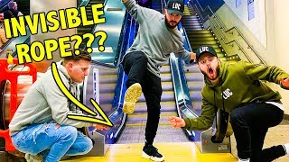 THE INVISIBLE ROPE PRANK!!!