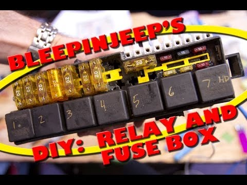 hqdefault bleepinjeep's diy relay and fuse box youtube universal waterproof fuse relay box panel at fashall.co
