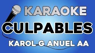 Karol G Anuel Aa - Culpables KARAOKE con LETRA