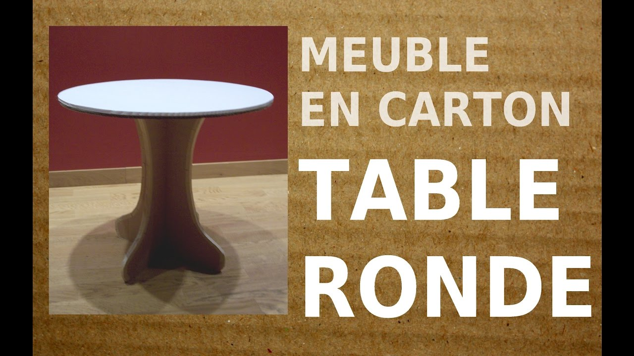 1 diy table carton la petite table ronde youtube. Black Bedroom Furniture Sets. Home Design Ideas