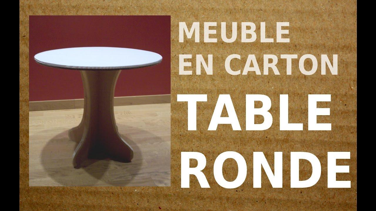 Ma Petite Fabrique De Meubles 1 diy table carton : la petite table ronde