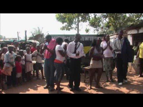 Street theatre in Mozambique