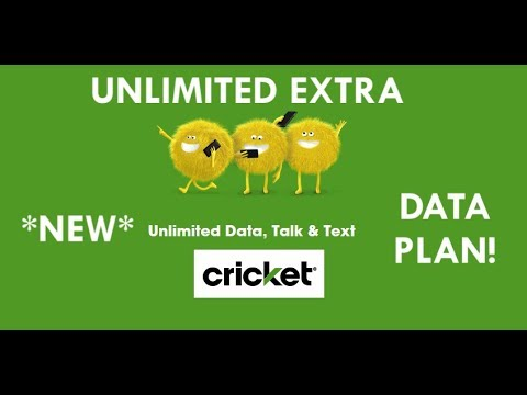 Cricket Wireless Unlimited Extra Plan New