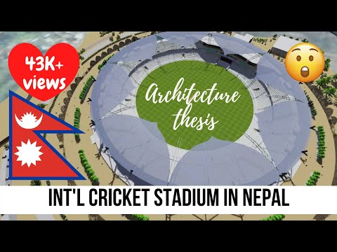 International Cricket Stadium in Nepal (Chittapol, Bhaktapur) || Thesis project || Lumion Animation