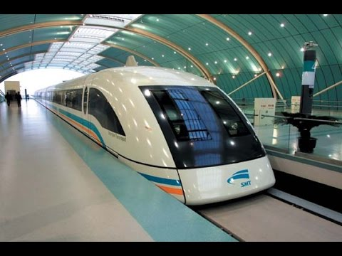 431kph Shanghai Maglev (Magnetic Levitation) train, the worl