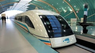 431kph Shanghai Maglev (Magnetic Levitation) train, the world's fastest commercially operating train