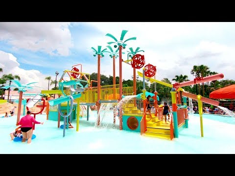 Adventure Island Water Park, Tampa, Florida, USA | Walking Tour