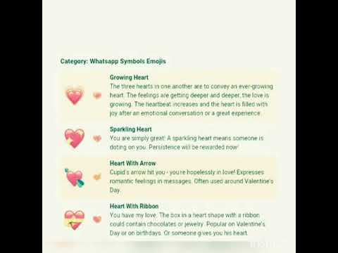 Different Color Heart Symbols Meanings In Chat Wha Youtube