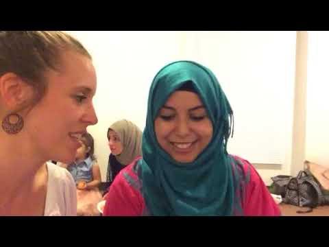 Jill Dillard At Mosque For Iraqi Feast During Ramadan