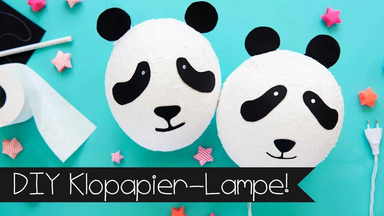 klorollen lampe basteln diy panda lampe aus toilettenpapier youtube. Black Bedroom Furniture Sets. Home Design Ideas