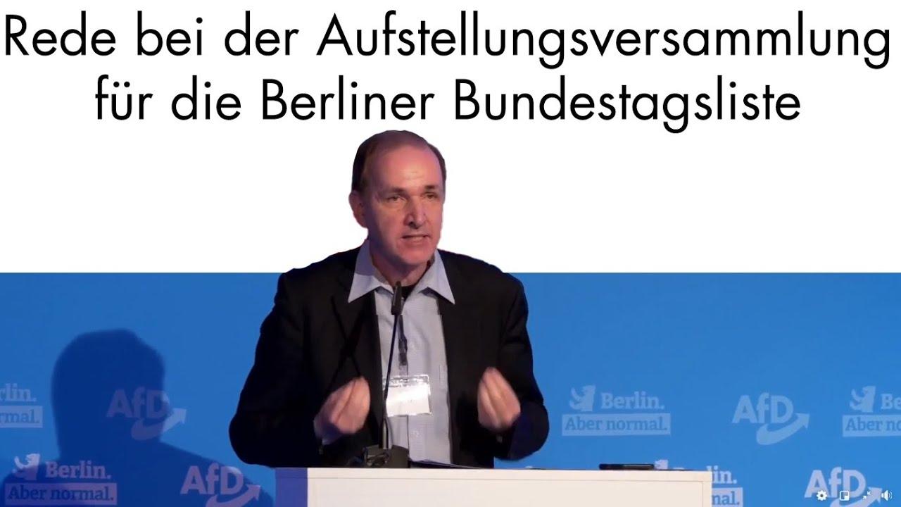 Listenparteitag: Rede für die Berliner Bundestagsliste