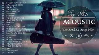 Best English Acoustic Love Songs 2020 -  Acoustic Cover Of Popular Songs / Sad Acoustic Songs